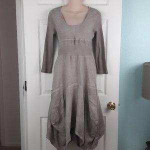 Inizio Magic 2 Pocket Taupe Dress Size Small
